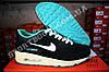 Кроссовки Nike Air Max 90 Black Mint Черные женские, фото 3