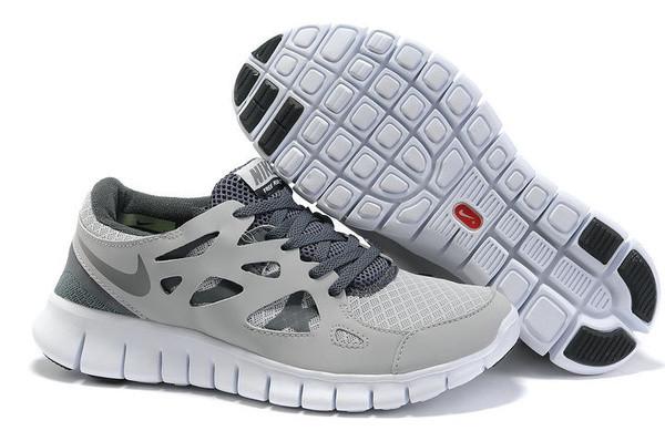 Кроссовки Nike Free Run 2.0 Gray Black Серые мужские