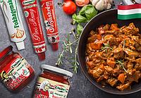 Венгерские приправы к блюдам - молотая паприка, чесночный крем и др.