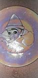 "Фарфоровая тарелка ""Клоунесса с розой"", перламутр, Франция, фото 2"