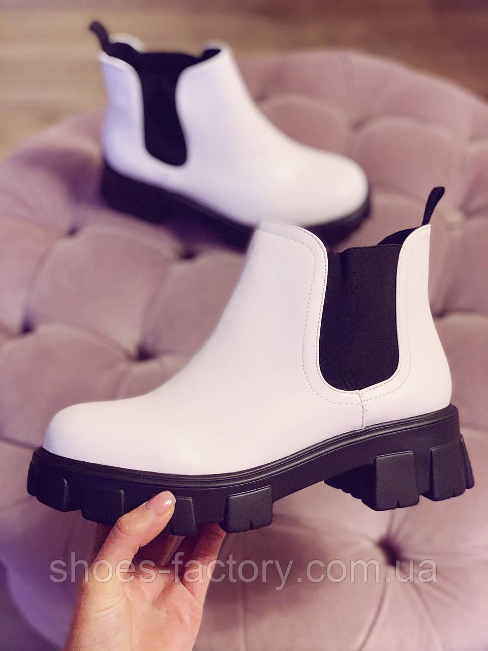 Челси CHELSEA 2020 Женские белые ботинки