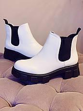 Челси CHELSEA 2020 Женские белые ботинки, фото 3