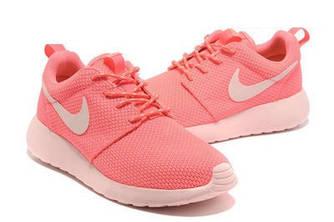 Кроссовки Nike Roshe Run Pink Розовые женские