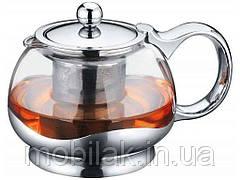 Чайник для заварювання СВ5080, скло, нержавійка, 800мл ТМ CON BRIO