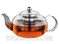 Чайник для заварювання СВ6080, скло, нержавійка, 800мл ТМ CON BRIO