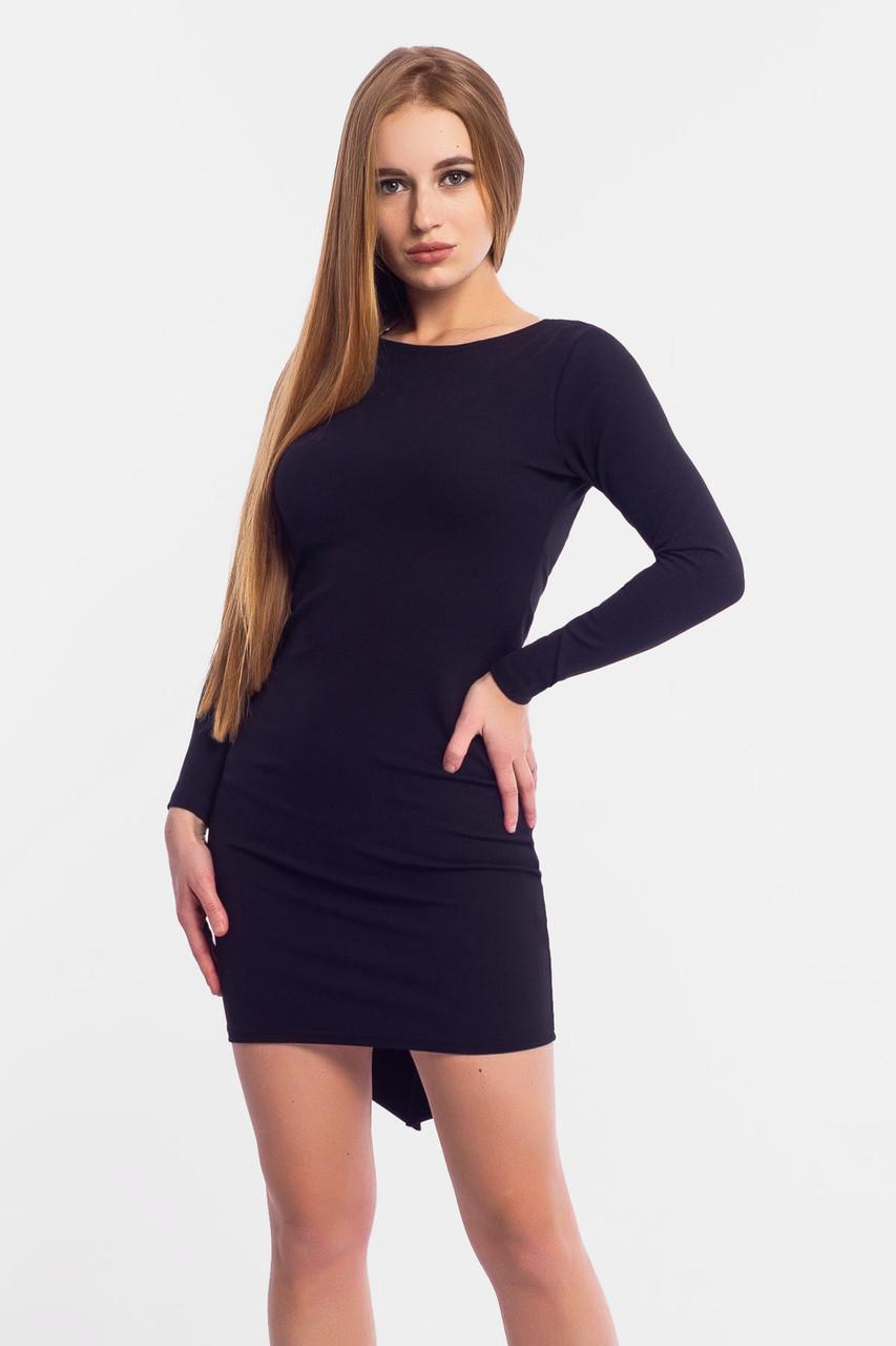 S, M, L   Коктейльне плаття з відкритою спиною Florens, чорний