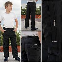 Штаны подростковые болоневые с подкладом и карманами BLV размер S-2XL черные 20037956
