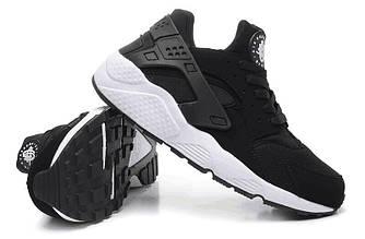 Кроссовки Nike Air Huarache Black White Черные женские