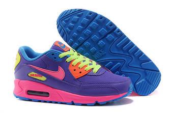 Кроссовки Nike Air Max 90 Violet Pink Фиолетовые женские