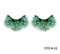 Натуральные подиумные ресницы перьевые Lady Victory LDV EYD-N-32 /0-1