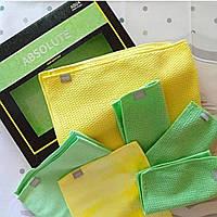 Набор салфеток для ухода за кухней без бытовой химии из микроволокна Aquamagic Absolute от Greenway