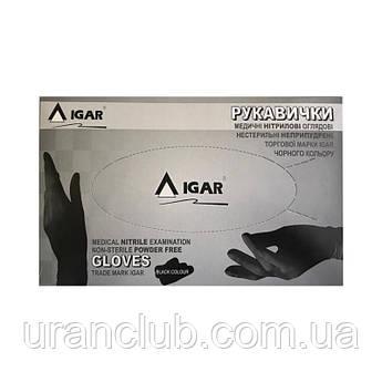 Нитриловые перчатки IGAR черные 200 шт./уп.