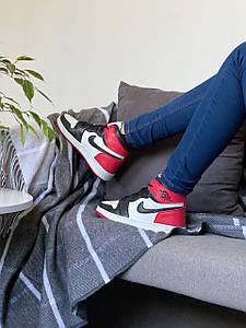 Nike Air Jordan Retro High Red/Black/White (красные/черные/белые)