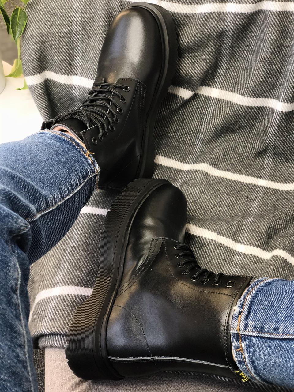 Ботинки Dr. Martens Jadon Total Black ( полностью черные)