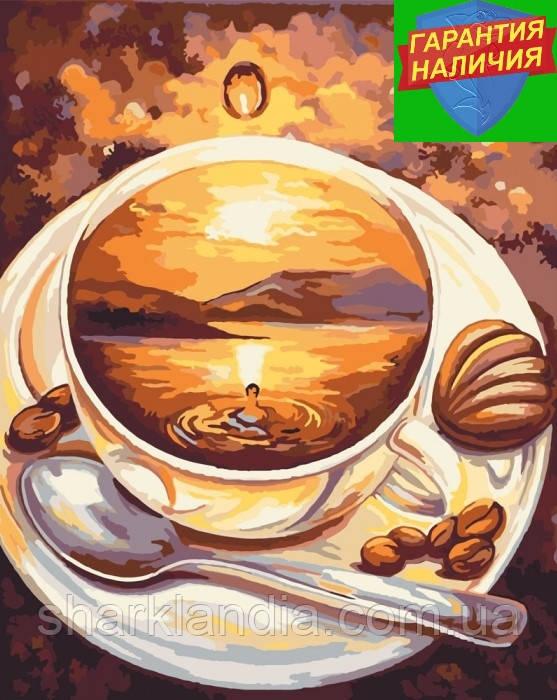 Картина по номерам Рассвет кофе 40*50см Идейка KHO2027 Чашка кофе