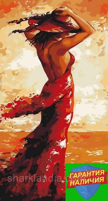 Картина по номерам Магия женщины в красном Эмерико Имре Тот 27*50см Идейка KHO4630 Раскраска по номерам