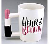 Чашка с ручкой в виде помады Hair and beauty, фото 2