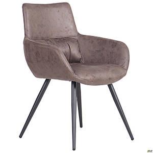 Обеденное кресло AMF Concord черный cowboy коричневое