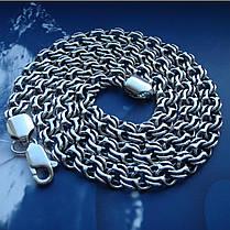 Cеребряная мужская цепочка, 650мм, 72 грамма, плетение Бисмарк, фото 3