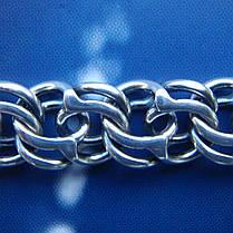 Срібна чоловіча ланцюжок, 650мм, 80 грам, плетіння Бісмарк, фото 3