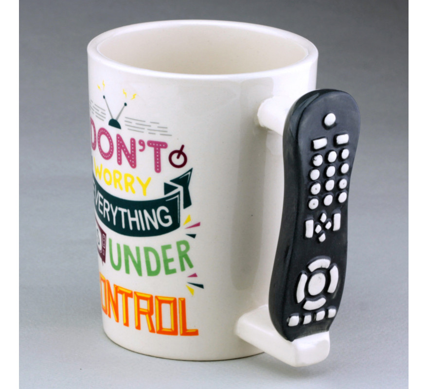 Чашка с ручкой в виде пульта от телевизора Under control