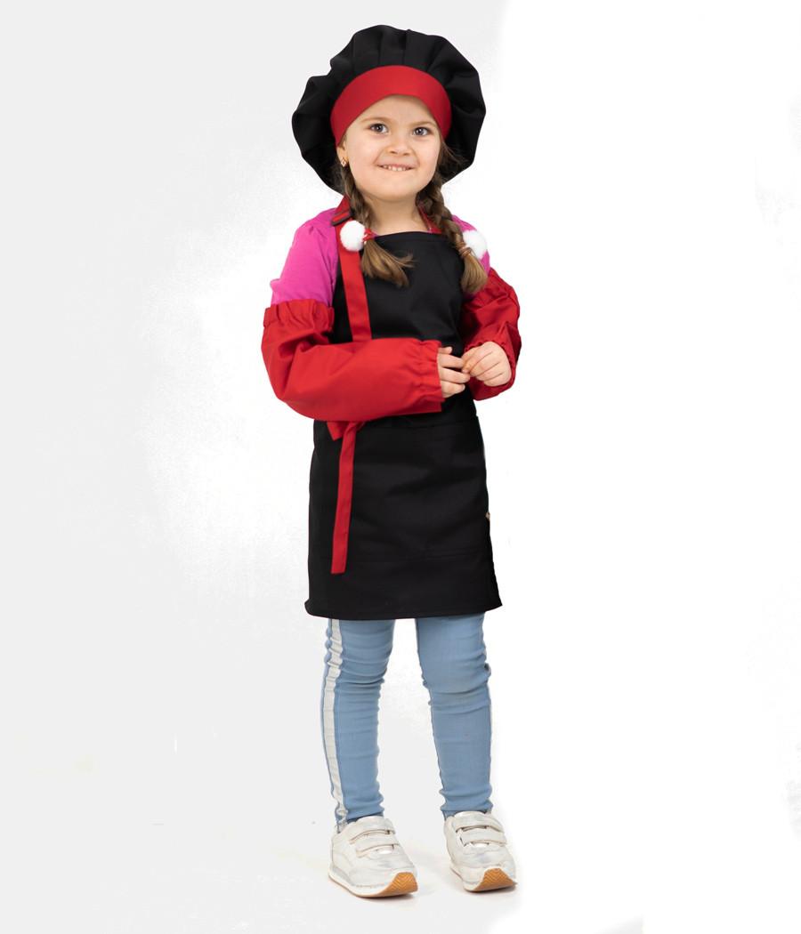 Комплект детский Latte Kids 5-7 лет | Фартук + Колпак + Нарукавники