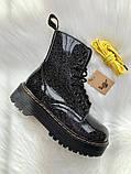 Женские ботинки Dr Martens Jadon в стиле Доктор Мартинс ЧЕРНЫЕ НА МЕХУ (Реплика ААА+), фото 2