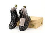 Женские ботинки Dr Martens Jadon в стиле Доктор Мартинс ЧЕРНЫЕ НА МЕХУ (Реплика ААА+), фото 5