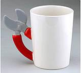 Чашка с ручкой в виде секатора - Кружка дачника, фото 3