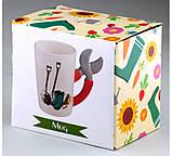 Чашка с ручкой в виде секатора - Кружка дачника, фото 2