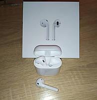 Беспроводные наушники оригинальная копия Air Pods 2. Bluetooth.Cенсорные с магнитным кейсом в стиле Аирподс