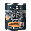 Графитная эмаль антикоррозионная по металлу 3 в 1 Maxima (зелёный) 0,75 кг