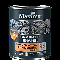 Графитная эмаль антикоррозионная по металлу 3 в 1 Maxima (зелёный) 0,75 кг, фото 1