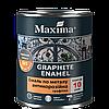 Графитная эмаль антикоррозионная по металлу 3 в 1 Maxima (серебристый) 2,3 кг