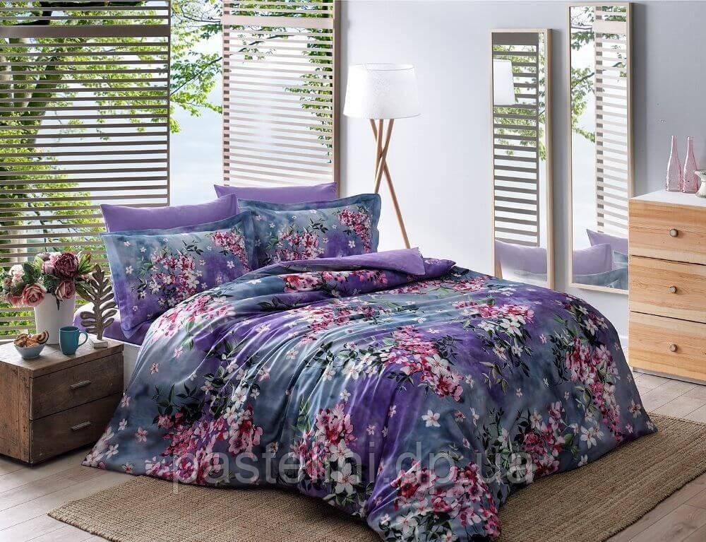 Digital Daphne lillac семейное сатиновое  постельное белье