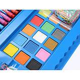"""Набор для детского рисования """"Настоящий художник"""" чемодан из 208 предметов + чемодан с мольбертом Голубой, фото 5"""