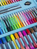 """Набор для детского рисования """"Настоящий художник"""" чемодан из 208 предметов + чемодан с мольбертом Голубой, фото 6"""