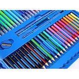 """Набор для детского рисования """"Настоящий художник"""" чемодан из 208 предметов + чемодан с мольбертом Голубой, фото 7"""