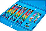 """Набор для детского рисования """"Настоящий художник"""" чемодан из 208 предметов + чемодан с мольбертом Голубой, фото 3"""