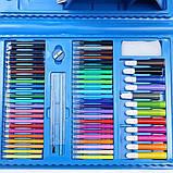 """Набор для детского рисования """"Настоящий художник"""" чемодан из 208 предметов + чемодан с мольбертом Голубой, фото 4"""