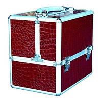 Чемодан алюминиевый 332 (бордовый)