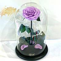 Лиловая роза в колбе Lerosh - Lux 33 см