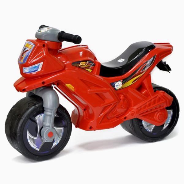 Прочный детский Мотоцикл Беговел 2-х колесный, красного цвета