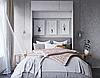 Подъемная шкаф-кровать вертикальная в спальню