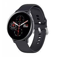 Умные смарт часы SMART WATCH S20 Black черные силиконовый ремешок с измерением давления на Подарок