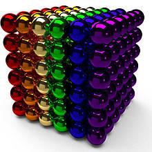 Магнитная игрушка Неокуб головоломка NBZ Neocube 216 шариков 5 мм в боксе Разноцветная