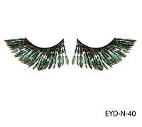 Натуральные подиумные ресницы перьевые Lady Victory LDV EYD-N-40 /0-1