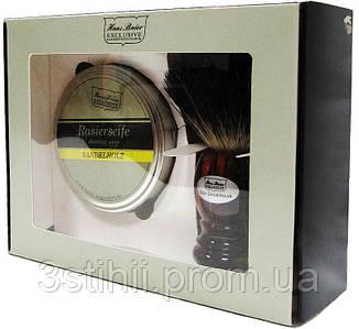 Набор для бритья с помазком Hans Baier 12142-041 Коричневый
