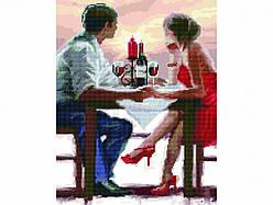 Алмазная картина-раскраска Свидание в кафе 40х50 см в коробке, BrushMe (GZS1047)