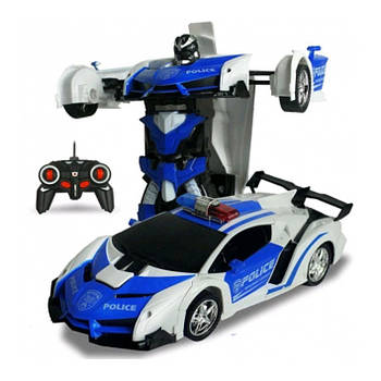 Машинка Трансформер Lamborghini Police Car Robot Size 118